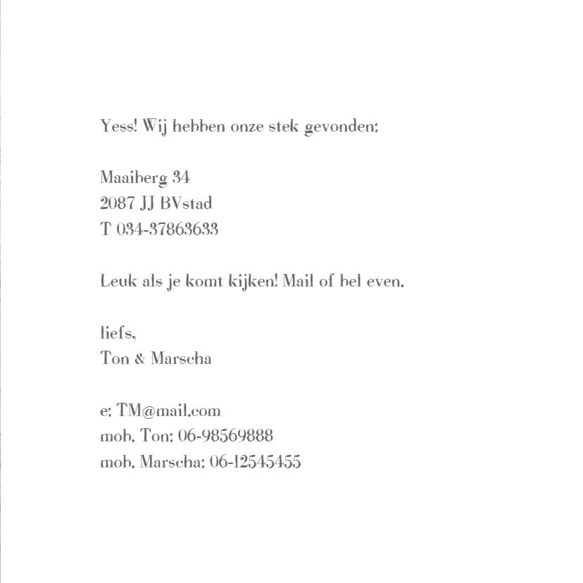 verhuis tekst  foto hout print 3