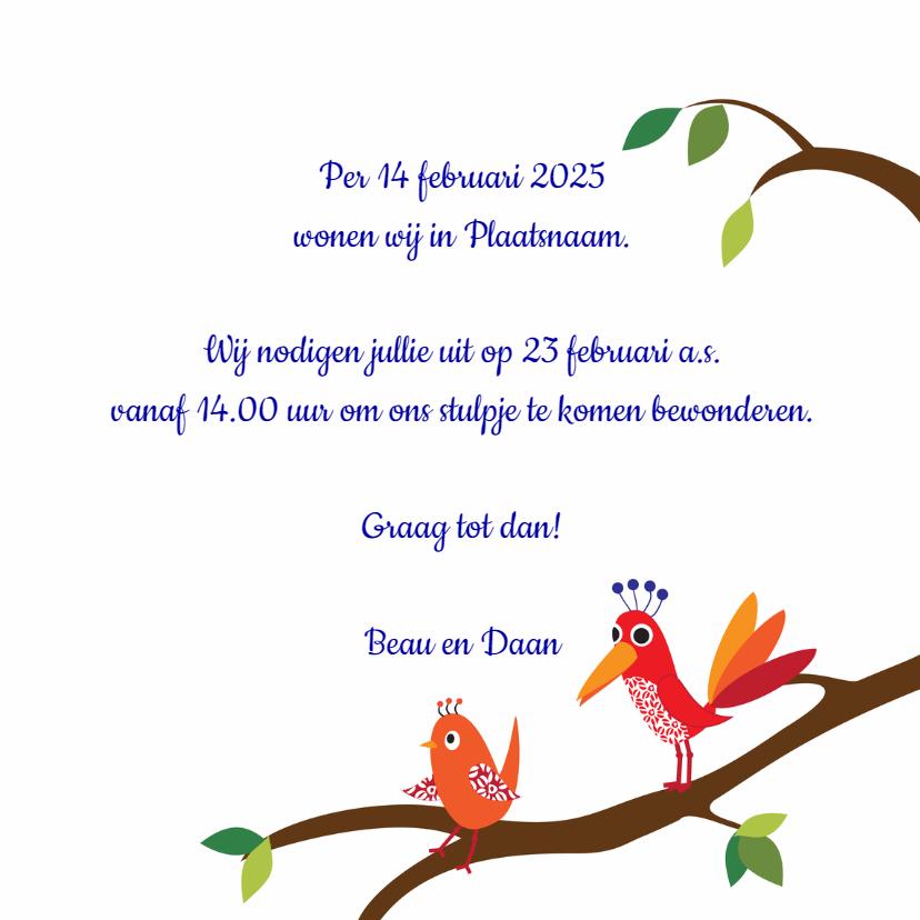 Verhuisbericht vogelhuisje 3