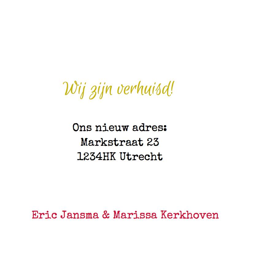 Verhuiskaart Citroen CV geel 3