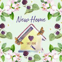 Verhuiskaart Droomhuis vlinder