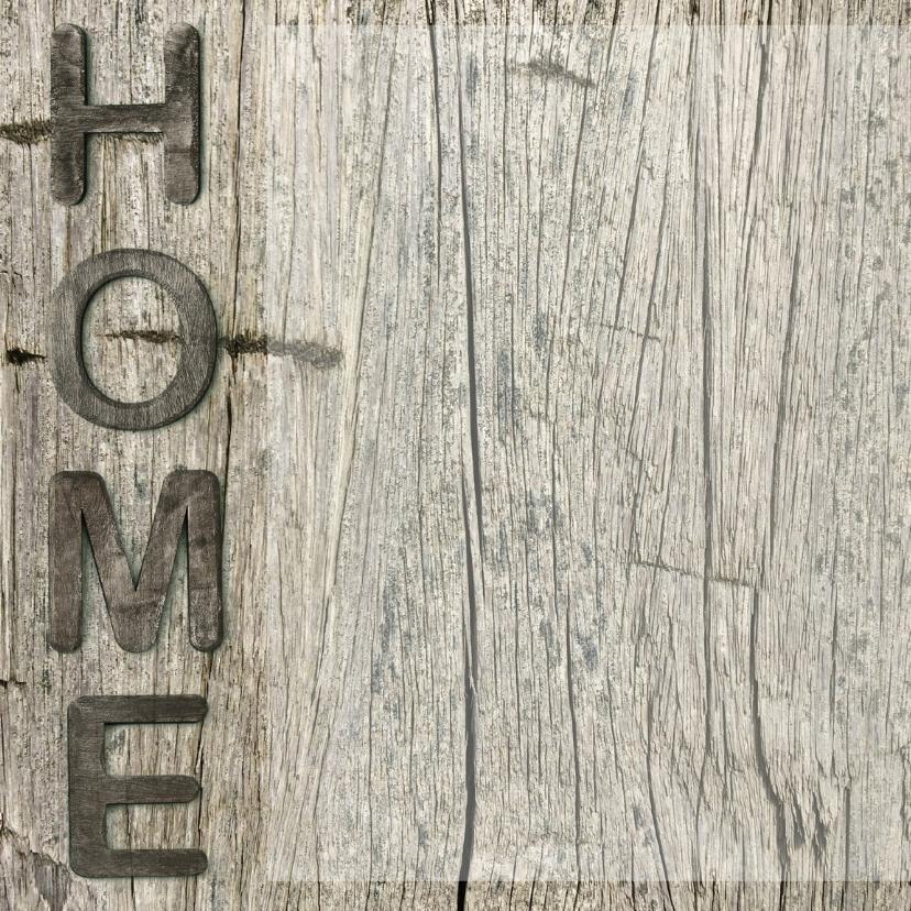 verhuiskaart Home hout vierkant 2