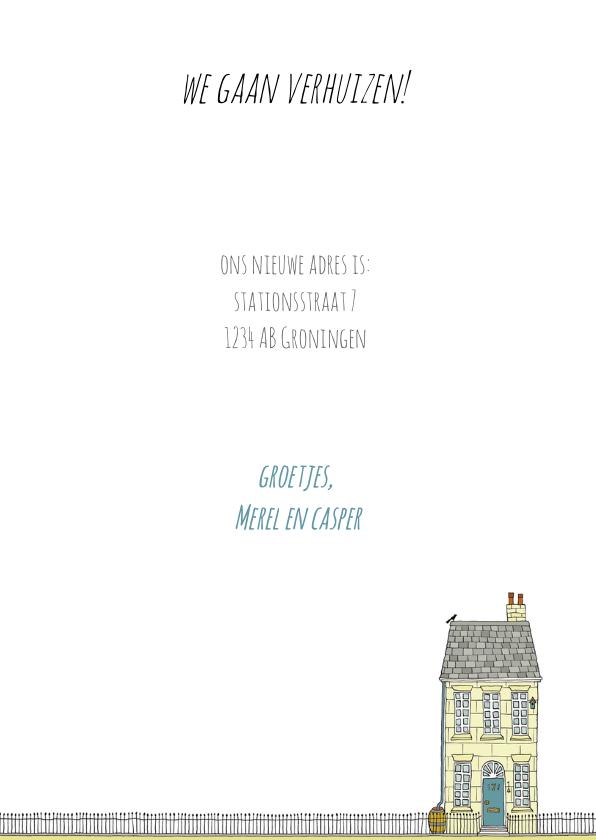 Verhuiskaart met een huis van zandsteen 3