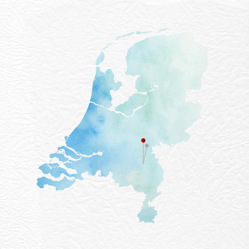 Verhuiskaart met kaart van Nederland 2