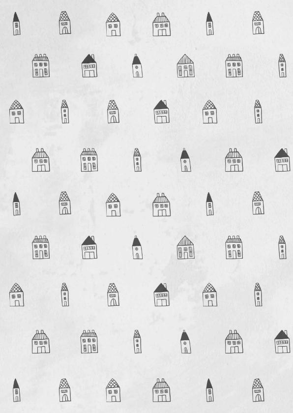 Verhuiskaart met labels en huisjes patroon 2