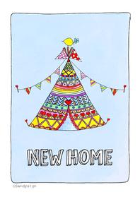Verhuiskaarten - Verhuiskaart New home tipi - SD