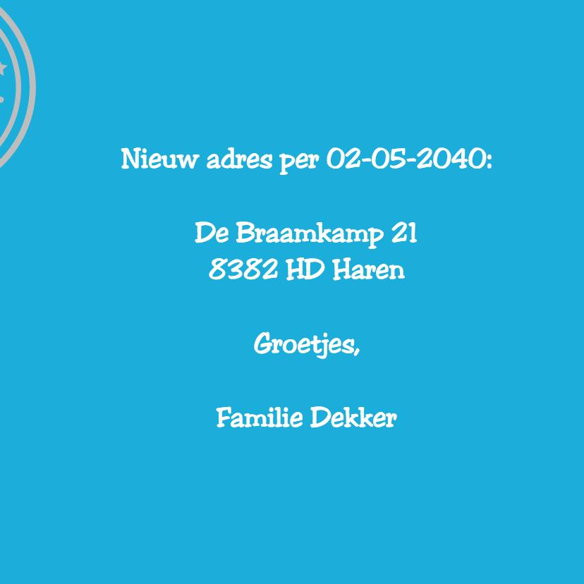 Verhuiskaart nieuw adres - Remco 3