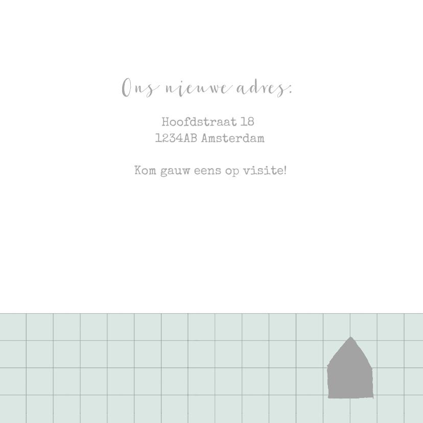 Verhuiskaart ruitpatroon foto's mint 3