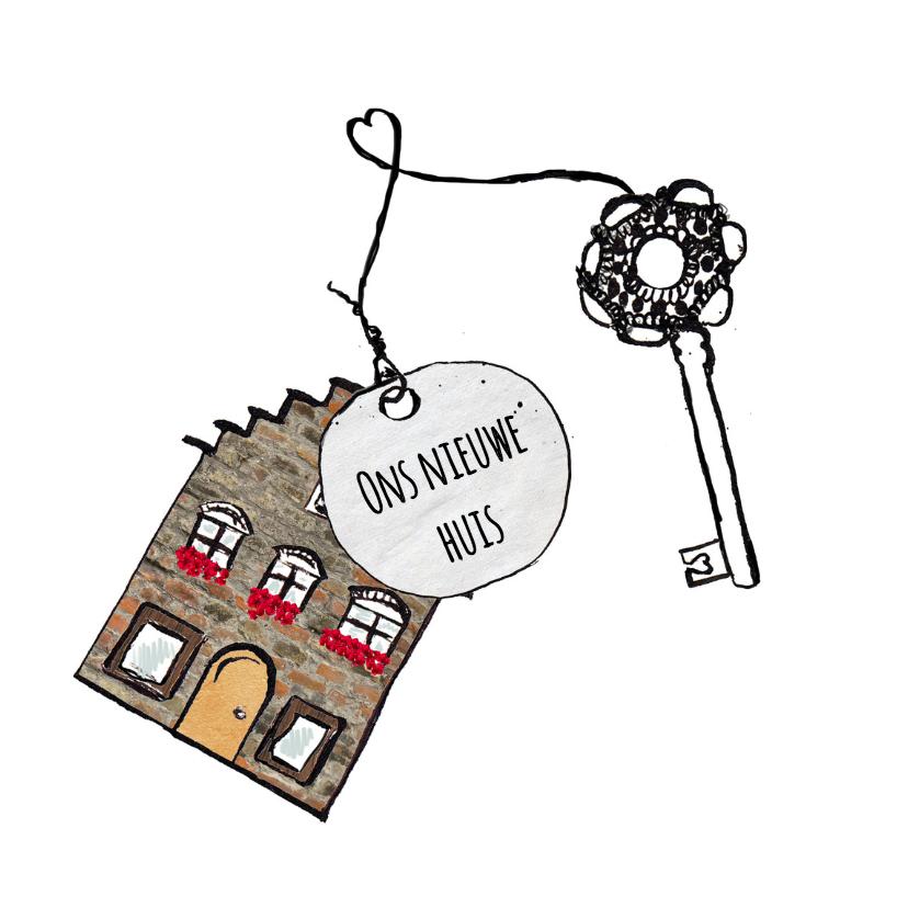 Verhuiskaart sleutel nieuw huis verhuiskaarten kaartje2go - Nieuw huis ...
