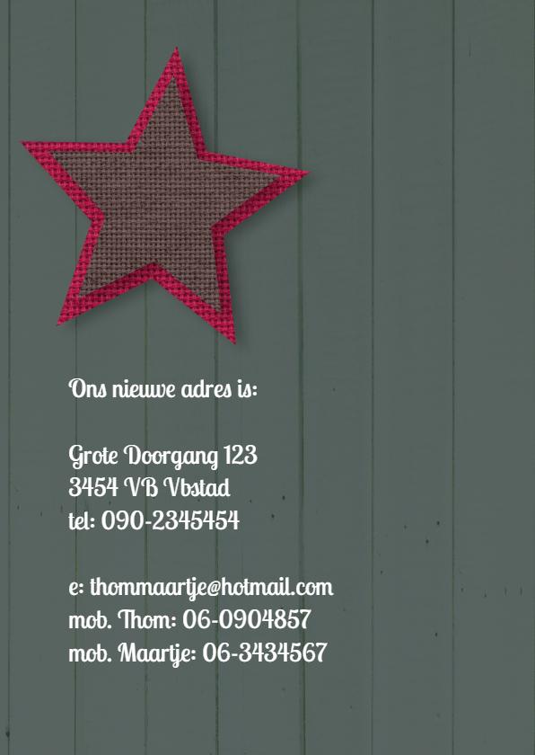 Verhuiskaart sleutel sterren mix 2