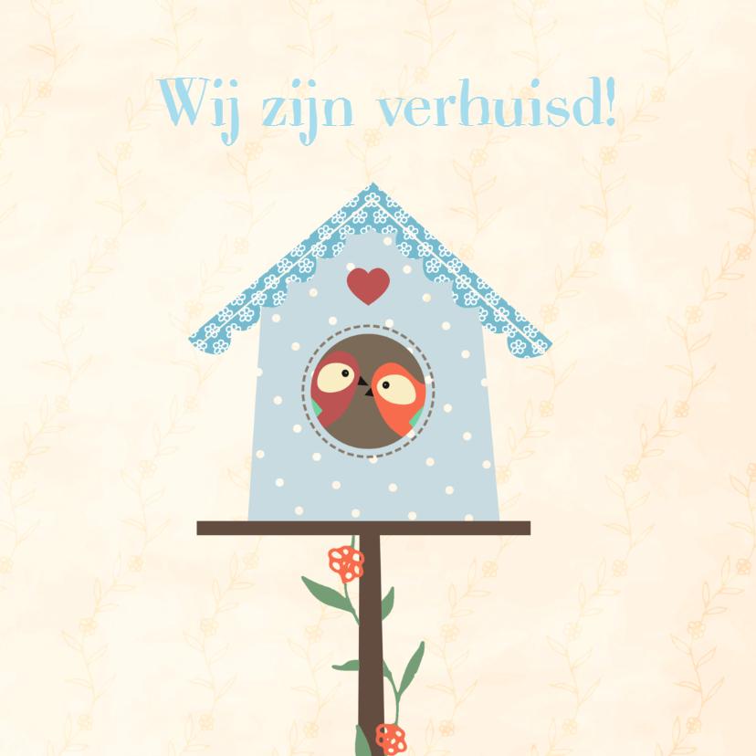 Verhuiskaart vogelhuisje - SV 2