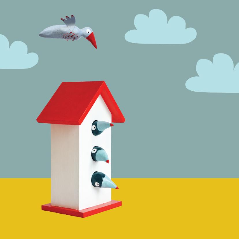Verhuiskaart vogelhuisje 2