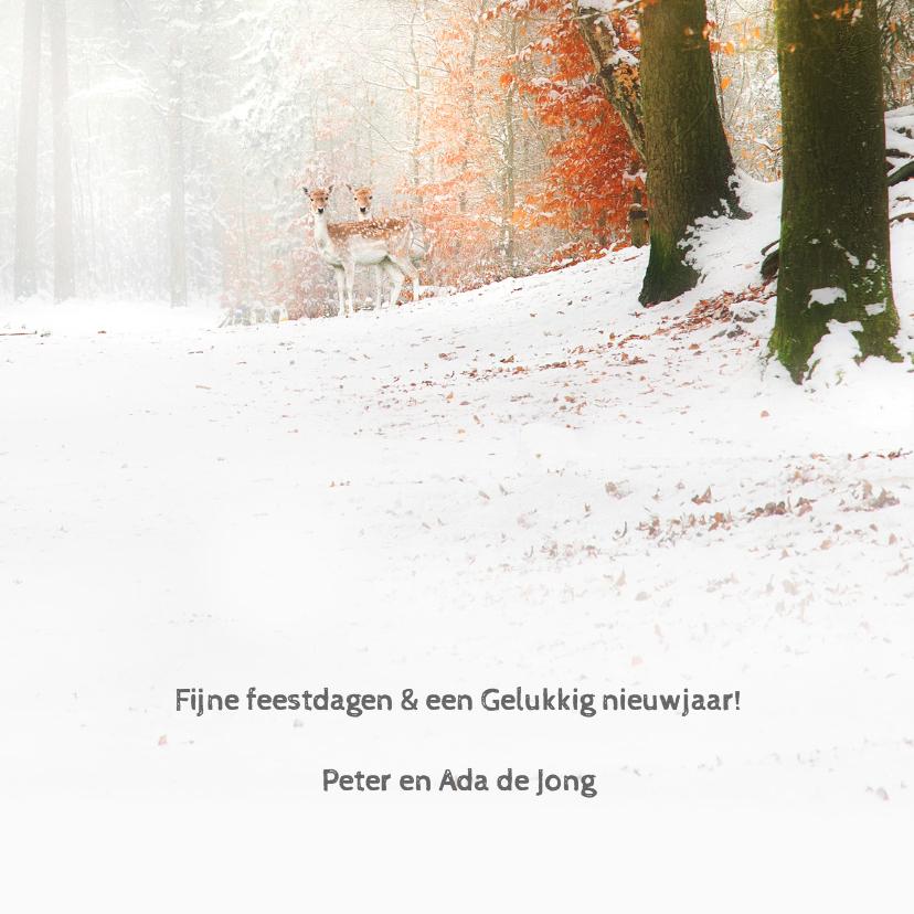 Verhuiskaart winters bos 3