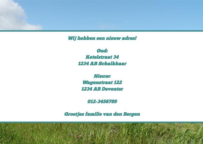 Verhuiswagen nieuw adres - BK 3