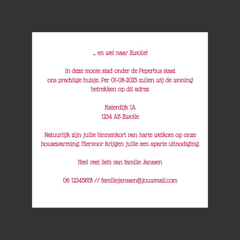 Verhuizen naar Zwolle - DH 3