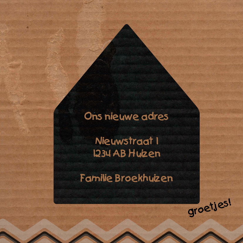 Verhuizing ZigZag karton - BK 3