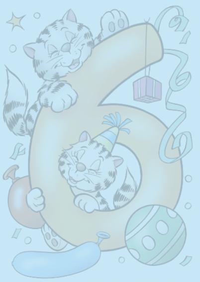 verjaardag 33 poesjes cijfer zes 2