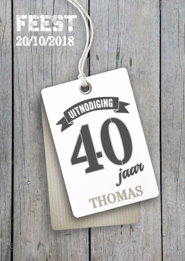 uitnodigingsteksten verjaardag 40 jaar Verjaardag 40 jaar uitnodiging   Uitnodigingen | Kaartje2go uitnodigingsteksten verjaardag 40 jaar