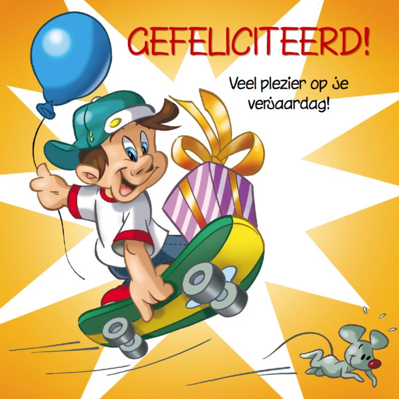 Fabulous verjaardag 7 kinderen met ballon - Verjaardagskaarten - Kaartje2go &YF18