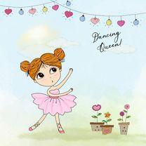 Verjaardagskaarten - Verjaardag als een  danseres