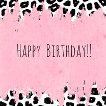 Verjaardagskaarten - Verjaardag Animal print