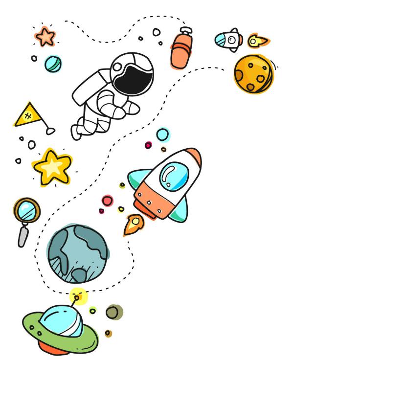 Verjaardag astronaut ruimte 2