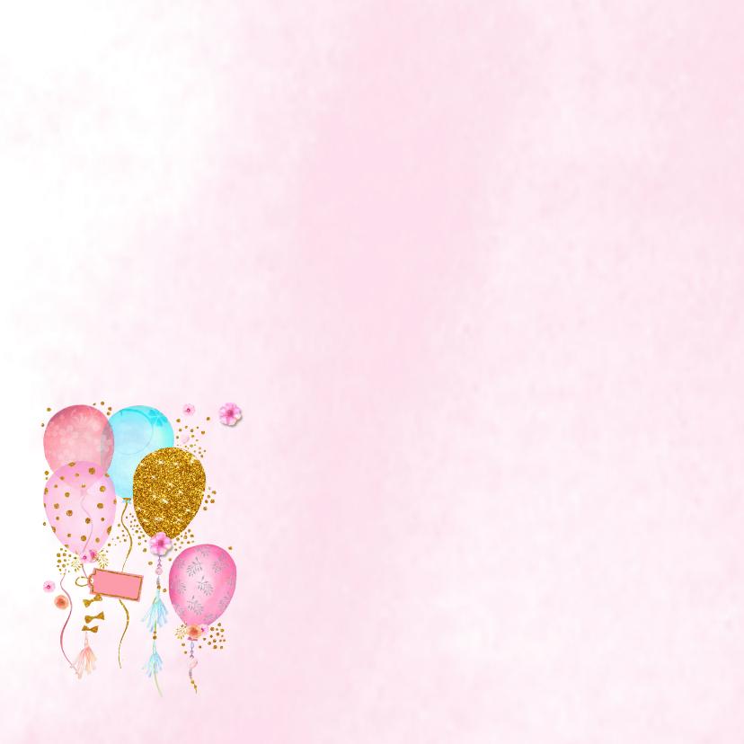 Verjaardag ballonnen glitter 2