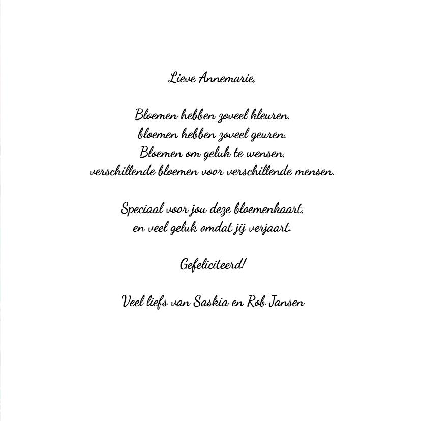 Verjaardag bloemen kleurrijk - HR 3