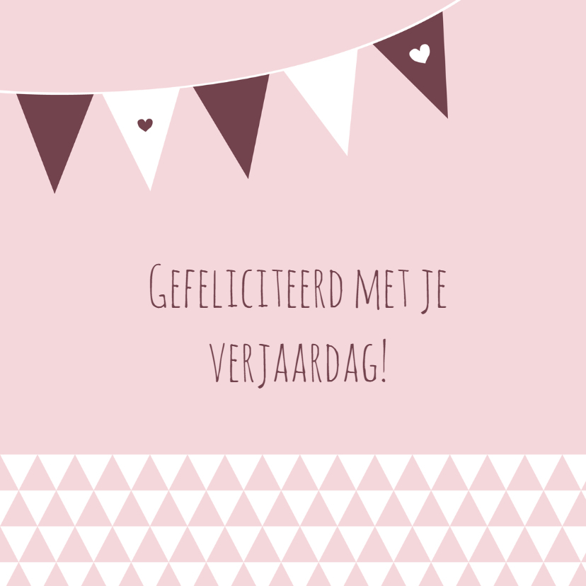 Verjaardag Driehoek Slinger Verjaardagskaarten Kaartje2go