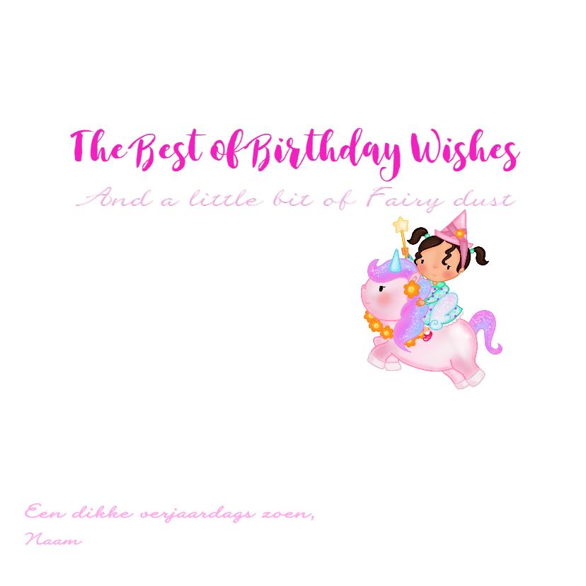 Verjaardag feetje op een Unicorn 3