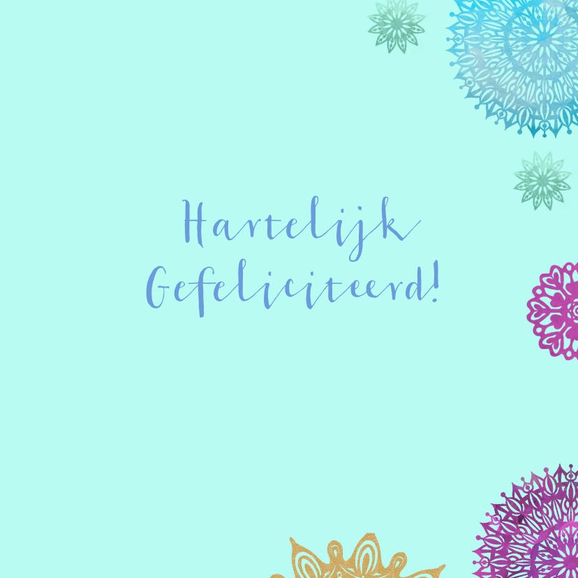 Verjaardag gekleurde mandala's 3