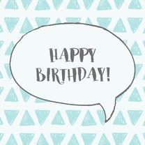 Verjaardagskaarten - Verjaardag happy birthday grafik