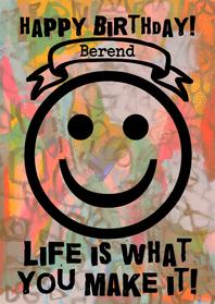 Verjaardagskaarten - Verjaardag Happy Life IW