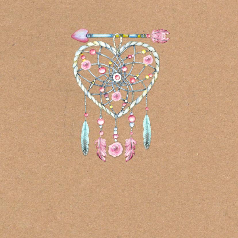 Verjaardag hart bohemian hart veren 2