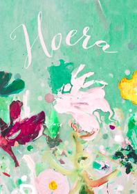 Verjaardagskaarten - verjaardag hoera vrolijke bloemen mix