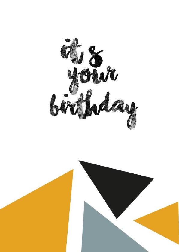 Verjaardag - Hooray - Driehoekjes  2