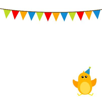Verjaardag jongen vogel - DD 3