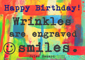 Verjaardagskaarten - Verjaardag keep on smiling  IW