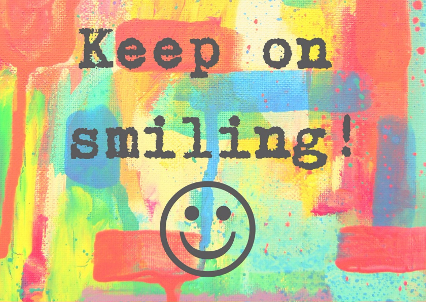 Verjaardag keep on smiling  IW  2