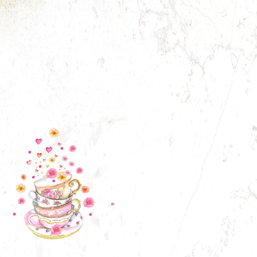 Verjaardag kopjes bloemen 2