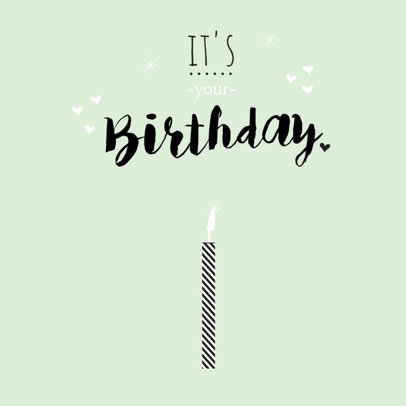 Verjaardag makeawish kaarsje - B 3