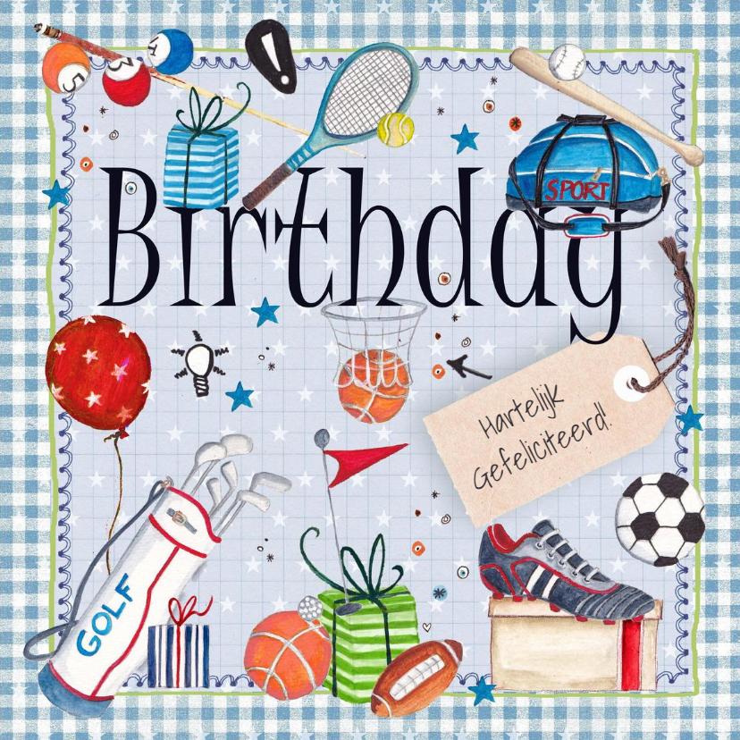 gefeliciteerd sport Verjaardag Man Sport Sportief | Kaartje2go gefeliciteerd sport