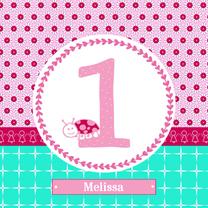 Verjaardagskaarten - Verjaardag meisje 1 jaar