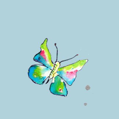 Verjaardag meisje 3 jaar vlinder 2