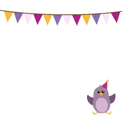 Verjaardag meisje vogel - DD 3