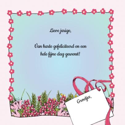 Verjaardag muis en bloemen - IH 3