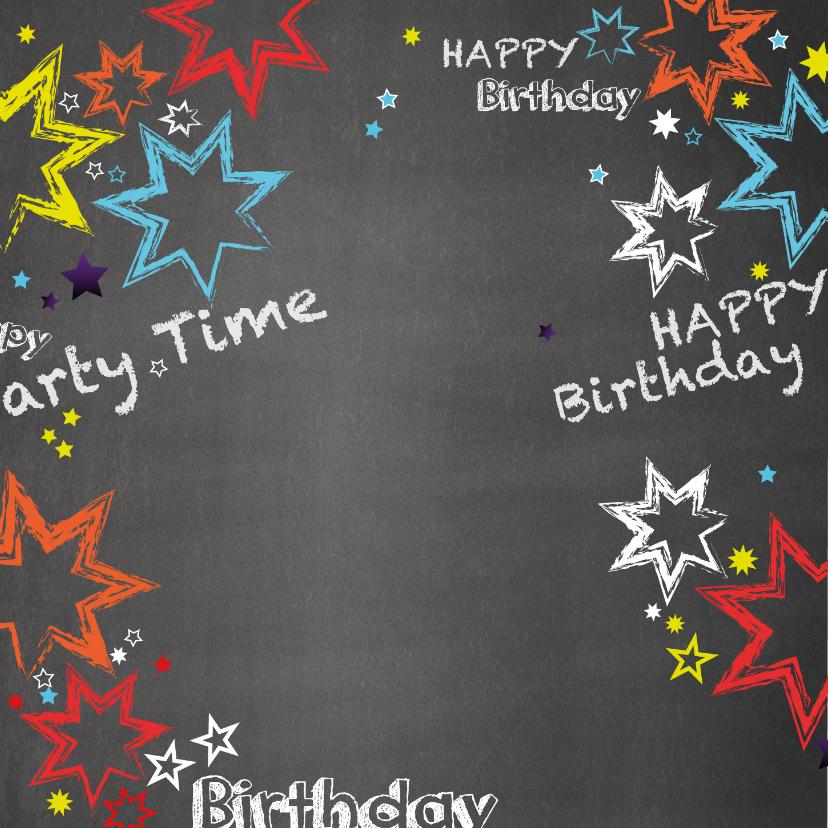 Verjaardag stoere felicitatie in graffiti stijl 2