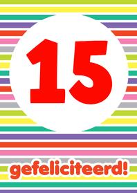 Verjaardagskaarten - Verjaardag Streepjes Cijfers
