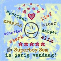 Verjaardagskaarten - Verjaardag Superboy IW