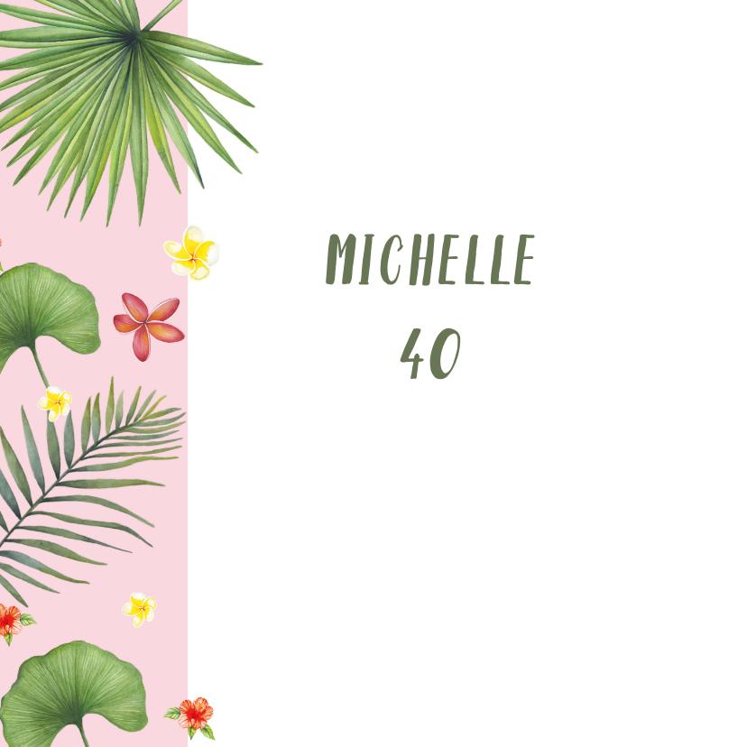 Verjaardag tropisch blad 2