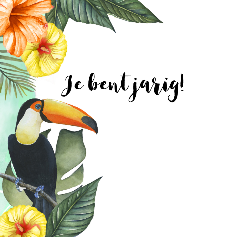 Verjaardag tropisch vogels 2